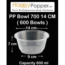 PP Bowl 700  14 cm ( 600 bowls )