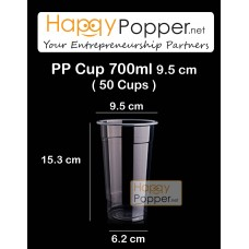 PP Plastic Cup 700 ml 22oz ( 50 Cups )