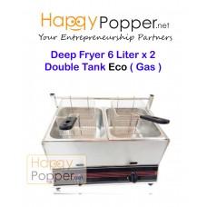 Deep Fryer ( Eco ) 6 Liter 2 Double Tank ( Gas )