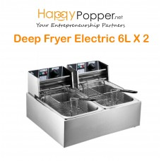Deep Fryer 6 Liter x 2 Double Tank ( Electric )