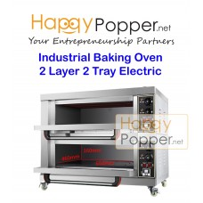 Industrial Baking Oven 2 Layer 2 Tray Electric