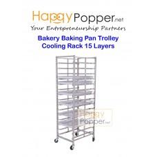 Bakery Baking Pan Trolley Cooling Rack  15 Layers