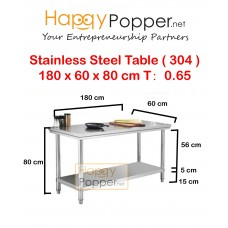 Stainless Steel Table 180 x 60 x 80 cm 0.65 T ( 304 )