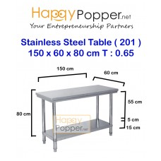 Stainless Steel Table 150 x 60 x 80 cm 0.65 T ( 201 )