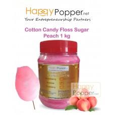 Cotton Candy Floss Sugar Peach 1 kg