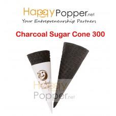 Charcoal Sugar Crispy Cone 300