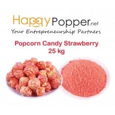 Popcorn Candy Strawberry 25 kg