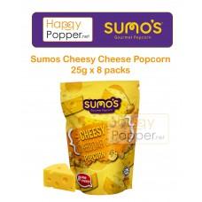 Sumos Gourmet Popcorn Cheddar Cheese Popcorn 25 g x 8