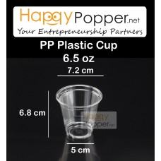 PP Plastic Cup 6.5oz ( 100 cups ) ( Inc Lid )